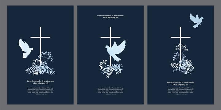 God bless you posters set, templates kit, universal prints design