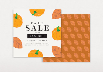 Graphic Fall Fest Sale Card Layout