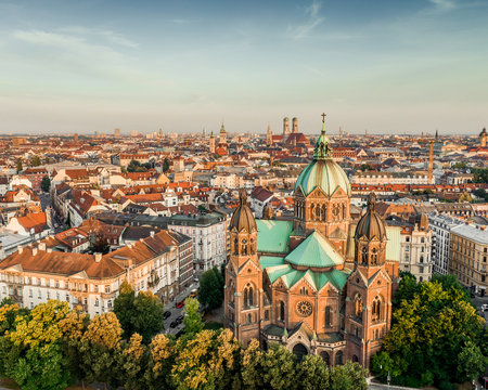 Munich mornings in golden hour