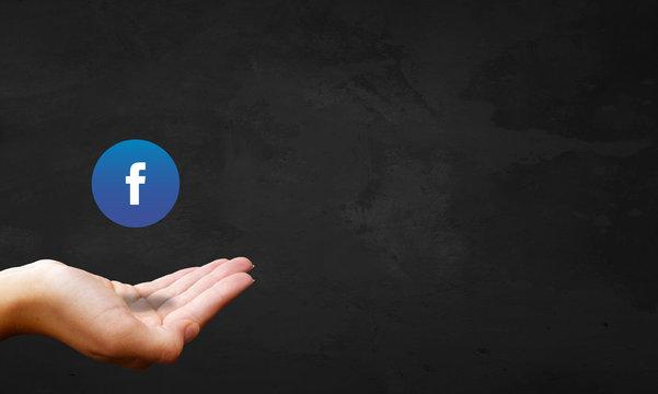 Chalkboard Hand - Facebook