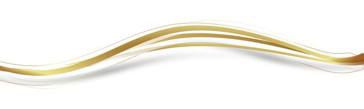 Welle Wellen Band Banner Gold Schung Faden Fäden