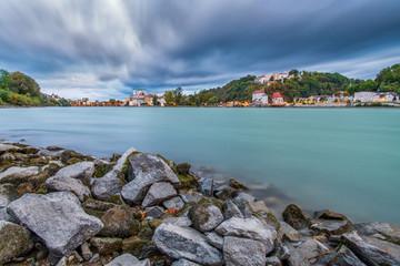 Passau mit Wolken