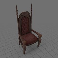Vintage throne chair