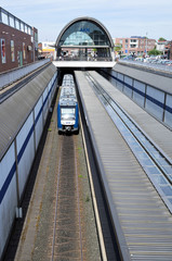 KALTENKIRCHEN, GERMANY - June 15, 2017: Alstom LINT 54 regional train of AKN. AKN Eisenbahn AG operates commuter and freight trains in Hamburg and Schleswig-Holstein.