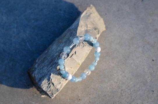 Natural stone bracelet,hand made jewerly