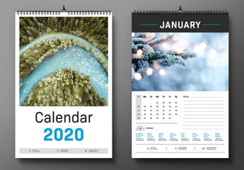 2020 Wall Calendar Layout