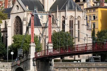 footbridge in Lyon