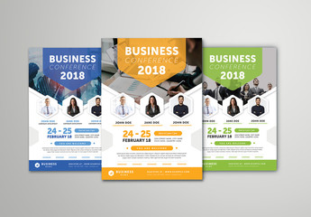 Business Conference Flyer Layout