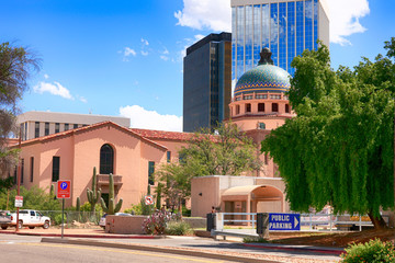 The old Pima County Courthouse in downtown Tucson AZ