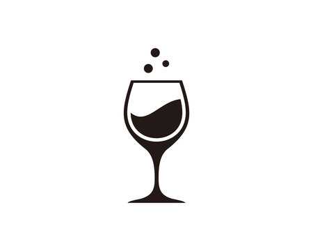 Wine icon symbol vector