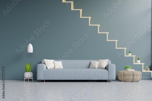 Sensational Modern Living Room Interior With Sofa And Green Plants Lamp Creativecarmelina Interior Chair Design Creativecarmelinacom