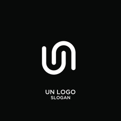 un s logo icon design vector illustration