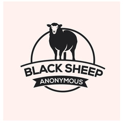 black sheep logo design