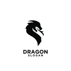 black dragon logo icon design vector illustration