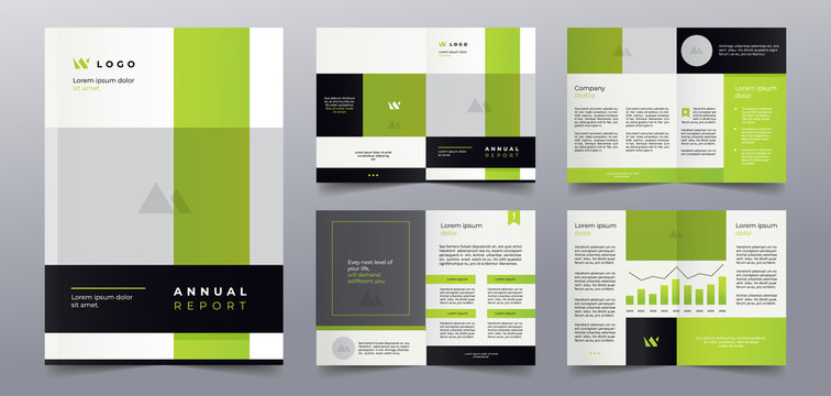 premium green business brochure pages design template