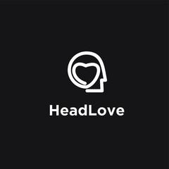 brain modern logo icon design template