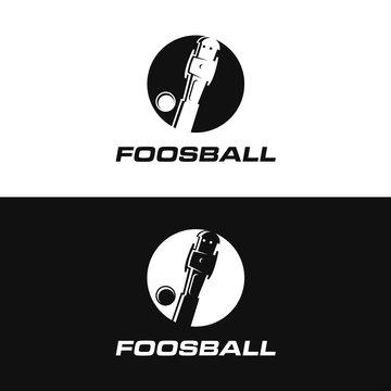 Minimalist logo icon of foosball
