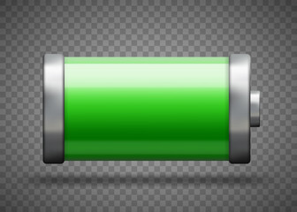 Full battery charge status. Vector Template illustration