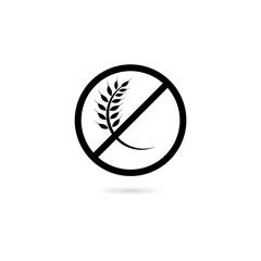 No gluten sign, Gluten free symbol on white background