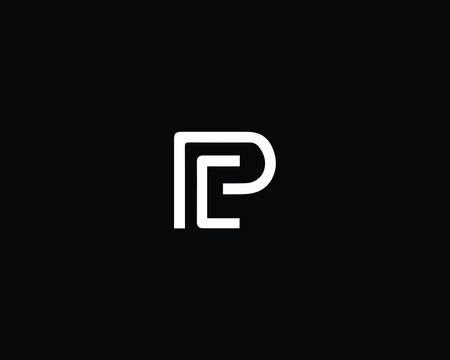 Professional and Minimalist Letter PC PE Logo Design, Editable in Vector Format in Black and White Color