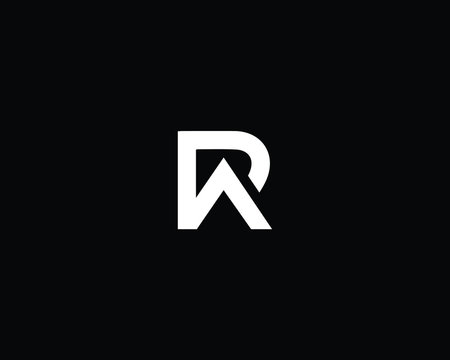 Professional and Minimalist Letter RA AR PA AP Logo Design, Editable in Vector Format in Black and White Color