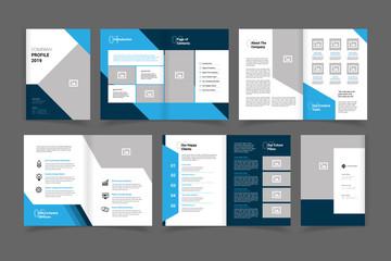 company profile brochure vector design template. annual report vector design template