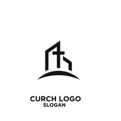 church minimal logo icon designs