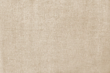 Photo sur Toile Tissu Brown cotton fabric texture background, seamless pattern of natural textile.