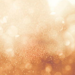 Christmas glowing Golden Background.