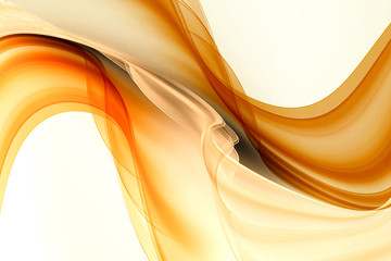 Foto op Aluminium Fractal waves Gold motion modern waves background.
