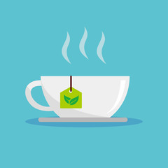 A cup of tea vector illustration on isolated background
