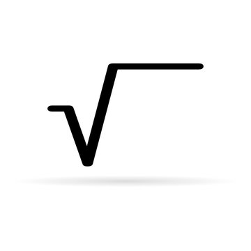 black math root icon, vector illustration