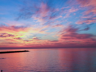Amanecer precioso en la playa de Malaga