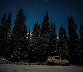 sternklare winternacht in norwegen