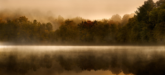 Morning Mist over Scarlet Oak Lake