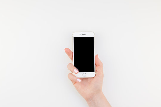 Woman hand with Iphone 7