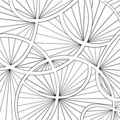 Black and white pattern coloring book for children and adults. Vector