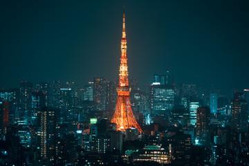 Tuinposter Tokio 六本木から見た東京の夜景