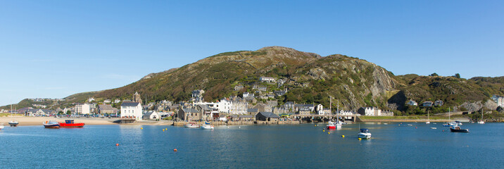 Wall Mural - Barmouth Wales beautiful coast town in Gwynedd Snowdonia National Park UK panoramic view