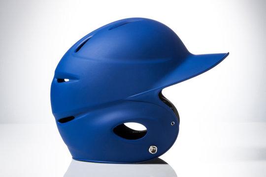 Baseball helmet on white background.