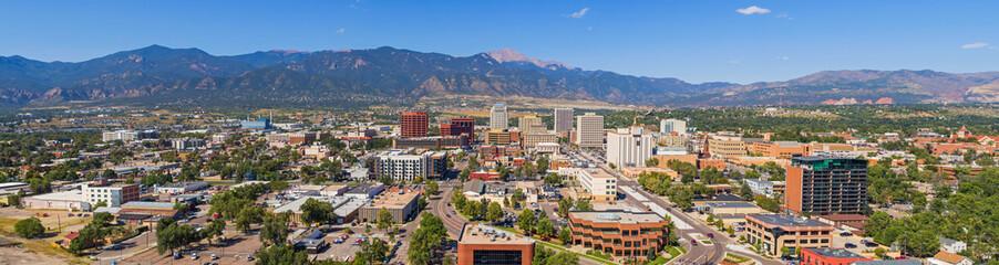 Huge Panorama of Downtown Colorado Springs Fotomurales