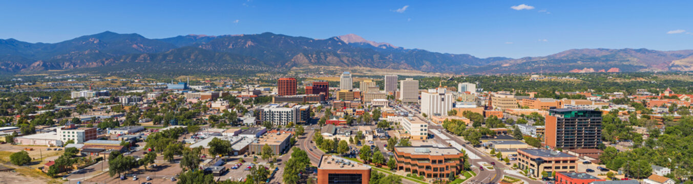 Huge Panorama of Downtown Colorado Springs
