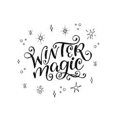 Winter Magic hand written inscription