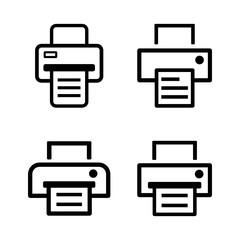 drukarka zestaw ikon