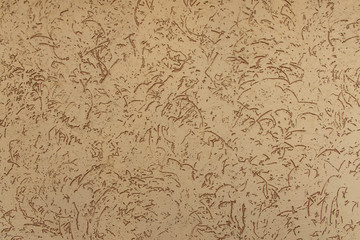 Fragment of wall, beige with brown plaster