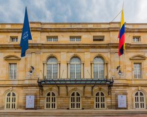 Fotomurales - Teatro Colon Opera in La Candelaria aera Bogota capital city of Colombia South America