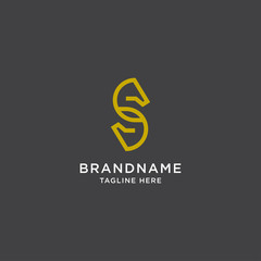 Letter S Horse With Line Style Logo Design Concept Template Vector