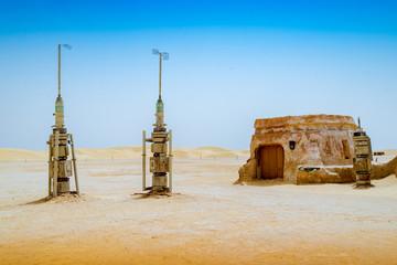 Decoración de tatuajes en el desierto del Sahara