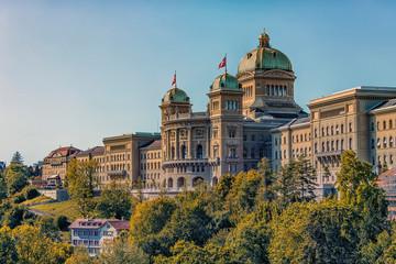 Fototapete - Federal Palace of Switzerland in Bern