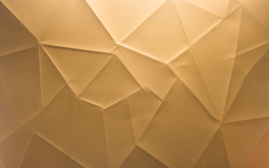 Golden new year background with folds and lines
